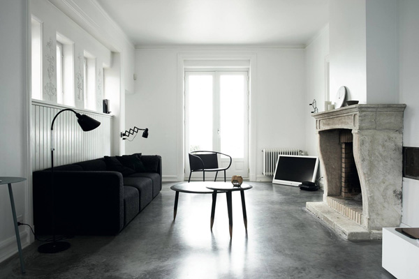Monochrome Home by Hilary Robertson and Pia Ulin, perfectly styled, scandinavian interior via http://www.scandinavianlovesong.com/