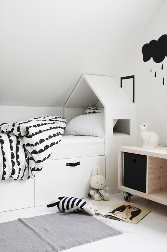 habitacion infantil blanco y negro